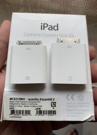 Набор переходников для ipad и фотоаппарата Apple Camera Connectio
