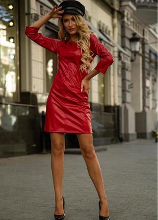 Платье 153r2070 цвет красный