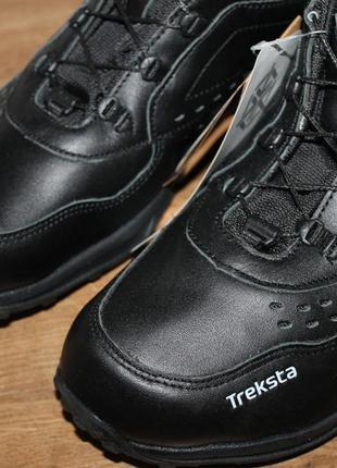 Кожаные кроссовки treksta handsfree 108 шнуровка без рук