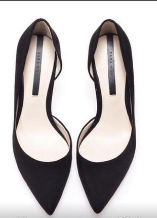 Туфли лодочки с вырезами удобный каблук