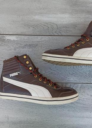 Puma кожаные кроссовки на меху оригинал