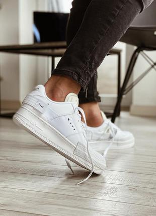 Nike air force 1 type white мужские кожаные кроссовки 😍
