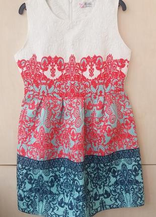 Платье узор