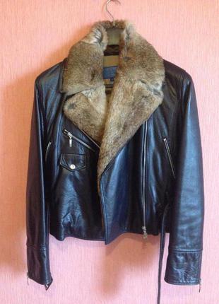 Кожаная куртка косуха Escada оригинал