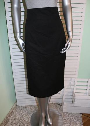 Черная миди юбка с высокой талией mexx