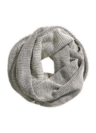 Меланжевый шарф снуд h&m
