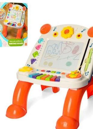 детский игровой центр-СТОЛИК 3 В 1 С ПИАНИНО И ДОСКОЙ ДЛЯ РИСОВАН