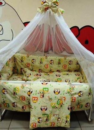 Набор детского постельного белья с рисунком  (9 элементов.,без зм