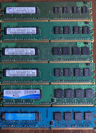 Модули памяти Samsung DDR2 1GB 6400U 800Mhz