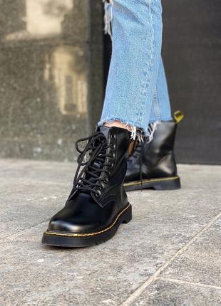 Женские ботинки доктор мартинс, чёрные мартинсы. dr martens cl...