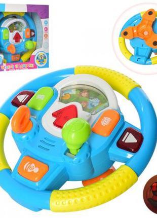 Детский игровой руль-автотренажер UKA-A0088, свет,звук