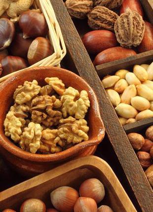 Орехи:бразильский,макадамия,фундук, пекан,миндаль,кешью,фисташки