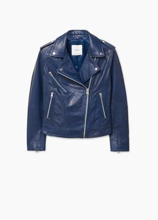 Кожаная куртка mango р. xs, оригинал косуха с лацканами,курточ...