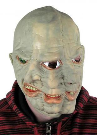 Оригинальный костюм на хэллоуин маска латексная
