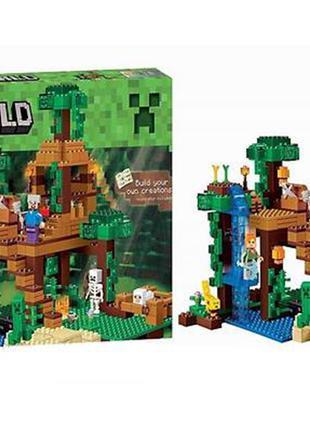 """Конструктор Bela Minecraft 10471 """"Домик на дереве в джунглях"""""""