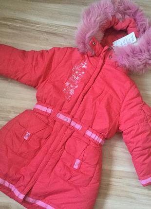 Зимнее пальто для девочки кіко