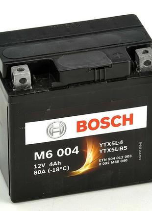 Аккумулятор мото 4 Ah (80A) AGM 12V BOSCH 0092M60040