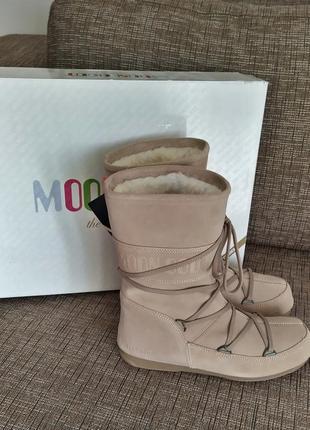 Новые луноходы moon boot замшевые сапоги на меху ботинки снего...