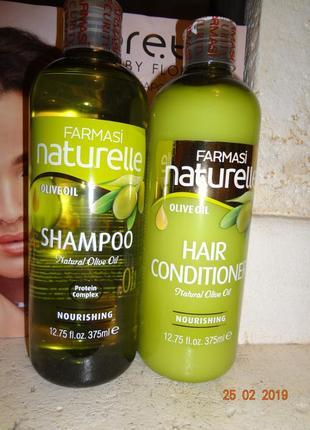 Набор для волос шампунь и кондиционер с маслом оливки питатель...