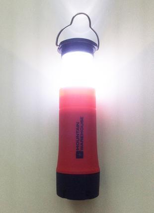 Фонарик факел 2 в 1 Mountain Warehouse.  Красный.