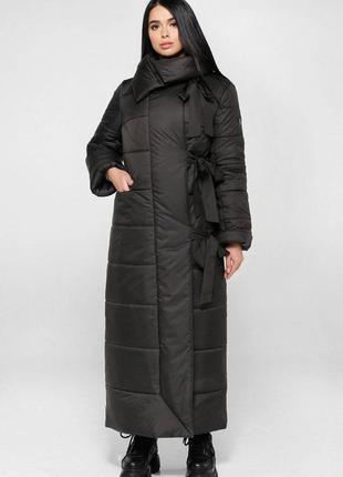 Распродажа: пуховик зимний длинный, пальто стеганое