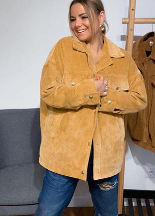 Вельветовая куртка женская зимняя