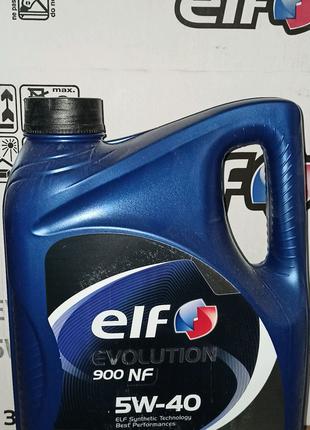 Синтетическое масло Elf Evolution 900 NF 5W-40 4 л.