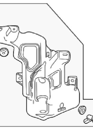 Бачок бак омывателя Chevrolet Volt 2013-2015 23184107,22850079