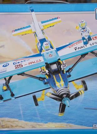 Конструктор BRICK 1125 самолет, фигурки, 354 дет.