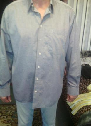 Шикарная серая с отливом рубаха большого размера ворот 44 фирм...