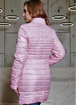 Куртка с водоотталкивающего лаке в стиле moncler.