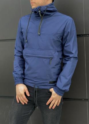 Мужская куртка Ветровка Анорак с капюшоном Дождевик Кофта