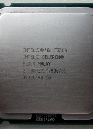 Двухядерный Intel Celeron E3300 2.5 GHz (s775)
