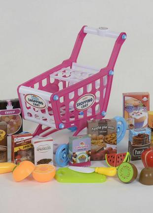 Игровой набор Супермаркет - тележка с фруктами