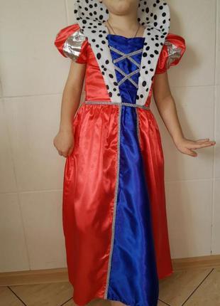 Карнавальный костюм детский платье королева