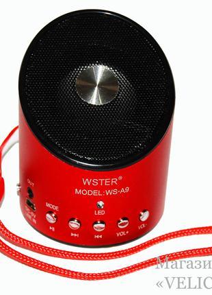 Портативная колонка MP3 FM WS-A9