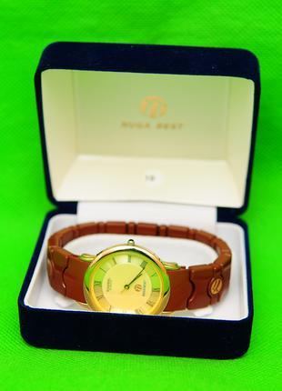Часы Nuga Best с швейцарским механизмом и турманиевым браслетом