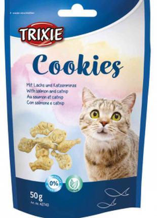 Лакомства Trixie Cookies печенье с рыбой и кошачьей мятой