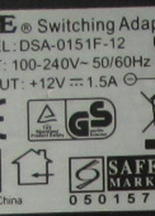 Блок питания постоянный трансформатор 12V 1,5A феррит DVE mod: DS