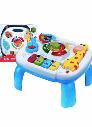 Музыкальный развивающий центр - столик для детей 1089 световые и