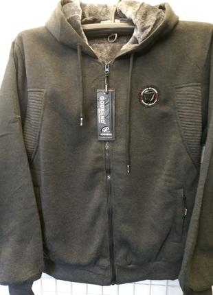 Батник на змейке куртка мужская теплая на искусственном меху
