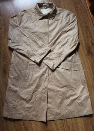 Двубортный винтажный хлопковый тренч плащ bally размер 40