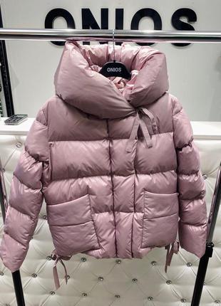 Шикарная куртка пудра