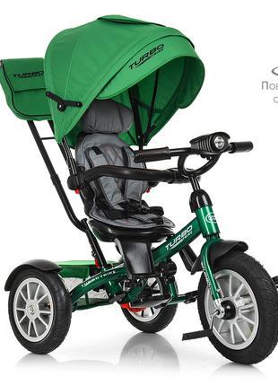 Велосипед детский трехколесный TurboTrike М 4057-4 поворотный