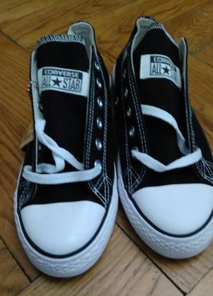 Стильные кеды черные низкие (черно - белые) / кеди чорні низьк...