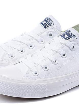 Кеды белые низкие в стиле converse (конверс) / кеди білі низькі