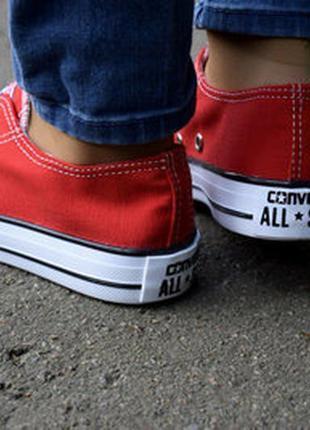 Кеды красные низкие в стиле converse (конверс) / кеди червоні ...