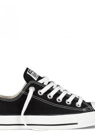 Кеды черные (черно - белые) низкие в стиле converse / кеди чор...