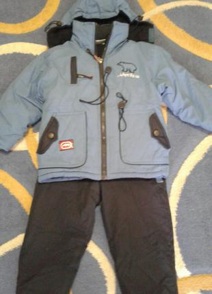 Зимний костюм куртка и полукомбез на 1, 5-2 года