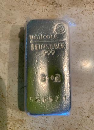 Серебро банковское 999.9 .Слитки 250 грм
